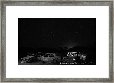 Junk Yard Framed Print by James Mcinnes