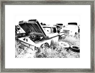 Junkyard Infrared 2 Framed Print by Matthew Angelo