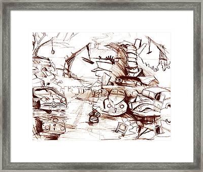 Junkyard  Framed Print