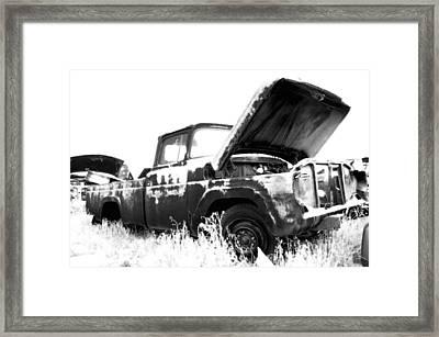 Junkyard Pickup Framed Print by Matthew Angelo
