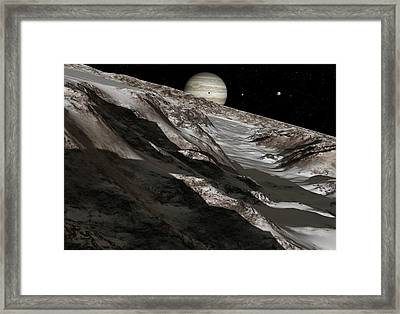 Jupiter From Ganymede, Artwork Framed Print by Detlev Van Ravenswaay