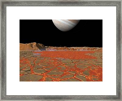 Jupiter From Io, Artwork Framed Print by Walter Myers