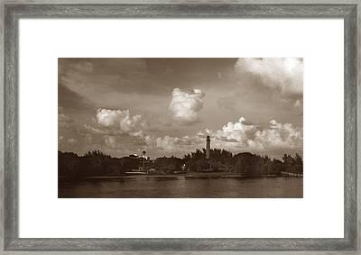 Jupiter Inlet  Framed Print by Skip Willits