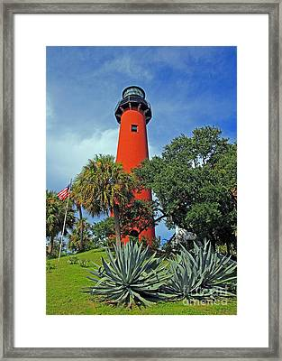 Framed Print featuring the photograph Jupiter Light - Late Day by Larry Nieland