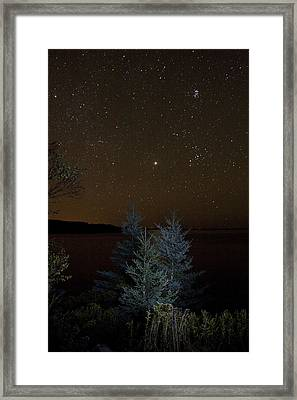 Framed Print featuring the photograph Jupiter  Over Otter Point 2 by Brent L Ander