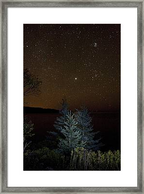 Framed Print featuring the photograph Jupiter  Over Otter Point 3 by Brent L Ander