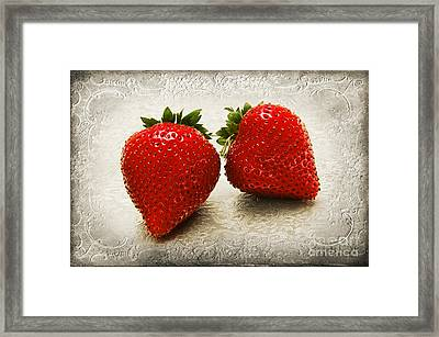 Just 2 Classic Berries Framed Print by Andee Design