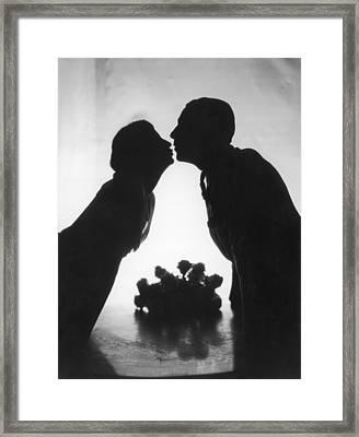 Just A Kiss Framed Print by Sasha