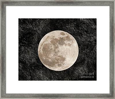 Just A Little Ole Super Moon Framed Print by Andee Design