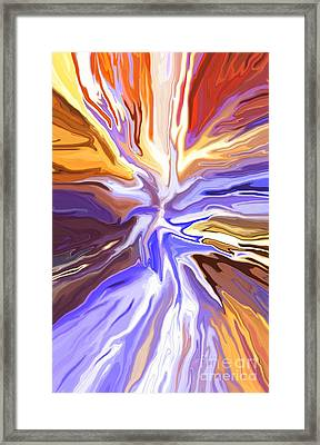 Just Abstract V Framed Print by Chris Butler