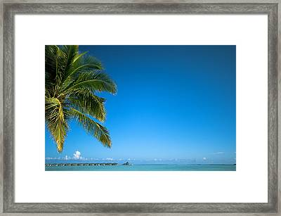 Just Another Day In Paradise. Maldives Framed Print