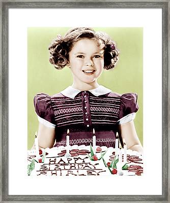Just Around The Corner, Shirley Temple Framed Print by Everett
