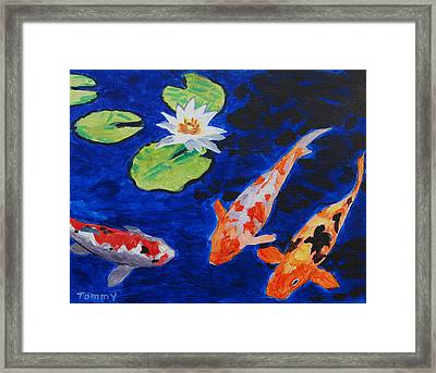 Just Being Koi Framed Print