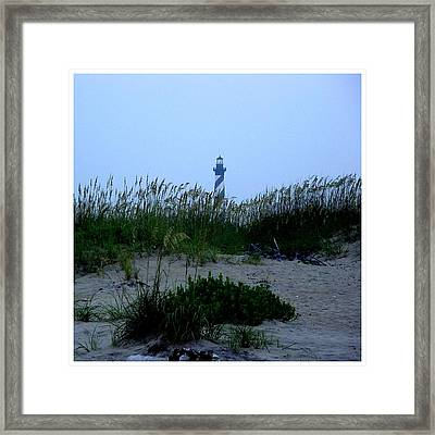 Just Beyond The Sea Oats Framed Print by Frank Wickham