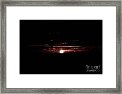 Just Beyond The Sunset Framed Print