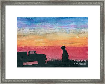 Just Checkin' Framed Print by R Kyllo