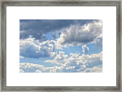 Just Clouds Framed Print by Laura Corebello