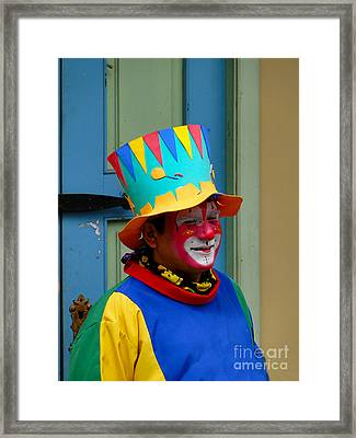 Just Clowning Around Framed Print by Al Bourassa