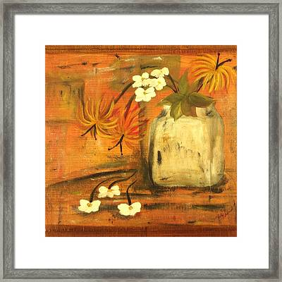Framed Print featuring the painting Just Enough by Kathy Sheeran