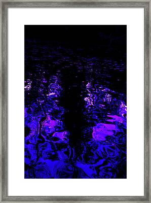 Just Inky Framed Print by Linda Mesibov