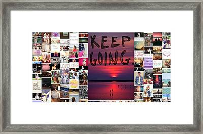 Just Keep Going Framed Print by Holley Jacobs