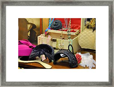 Just Look At My Dressing Table Framed Print by Jan Amiss Photography