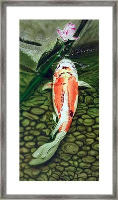 Framed Print featuring the painting Just One Bite by Dan Menta