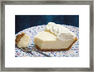 Just One Bite Of Key Lime Pie Framed Print by Andee Design