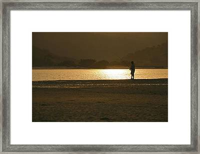 Just One More Throw  Framed Print by Miguel Capelo