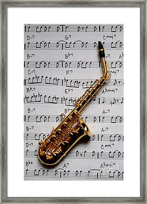 Just One Note Framed Print by Malu Couttolenc
