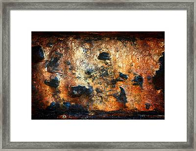 Just Rust Framed Print by Shane Rees
