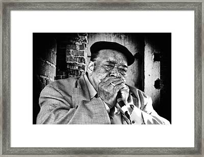 Just The Blues Framed Print