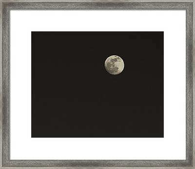 Just The Moon Framed Print by Roger Wedegis