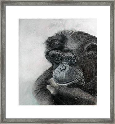 Just Thinking Framed Print by Sandra Sengstock-Miller