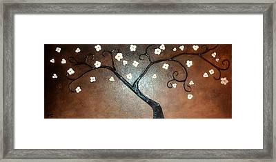 Just Thirty Two Flowers Framed Print by Edwin Alverio