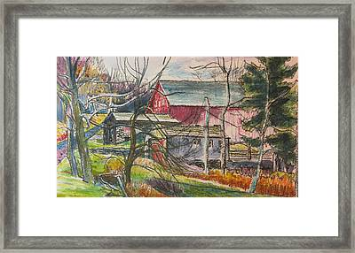 Just Up The Road A Piece Framed Print by Sid Solomon
