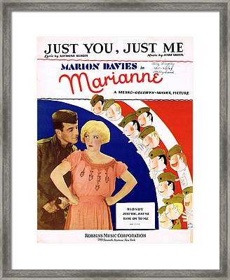 Just You Just Me Framed Print by Mel Thompson