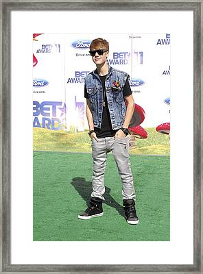 Justin Bieber At Arrivals For 2011 Bet Framed Print by Everett