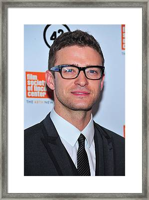 Justin Timberlake At Arrivals For The Framed Print by Everett