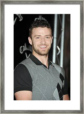 Justin Timberlake At The Press Framed Print by Everett