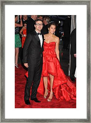 Justin Timberlake Wearing William Rast Framed Print by Everett