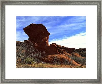Framed Print featuring the photograph Jut Rock Original by Clarice  Lakota