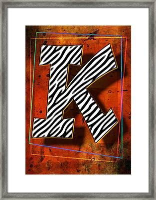 K Framed Print by Mauro Celotti