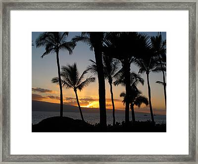 Kaanapali Sunset Framed Print by Kathy Corday