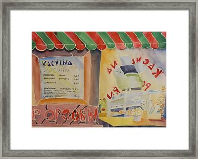 Kachina Popcorn Framed Print