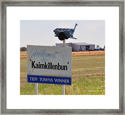 Kaimkillenbun Sign Framed Print