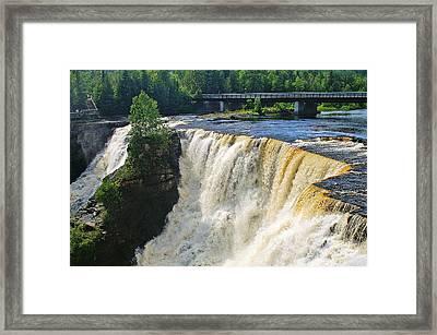 Kakabeka Falls Framed Print by Bill Morgenstern