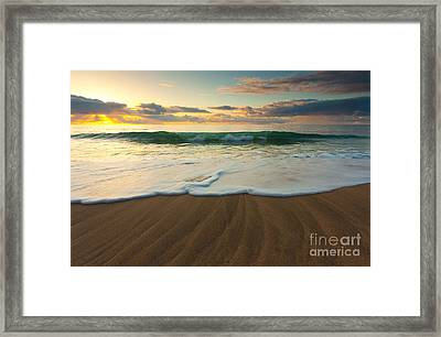 Kalalau Beach Sunset Framed Print by Buck Forester