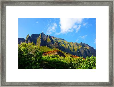Kalalau Mountains Morning Kauai Framed Print by Kevin Smith