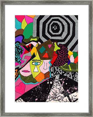 Kaleidoscope Of Color Framed Print by Christine Perry